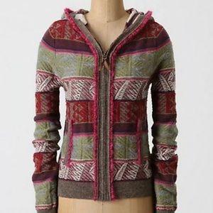 Anthropologie Moth ~*Reversed Hoodie*Sweater